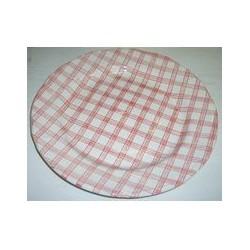 Plat rond 31 cm 'tartan'