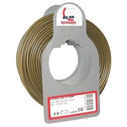 Cable meplat 2x0.75 25m or bobinot