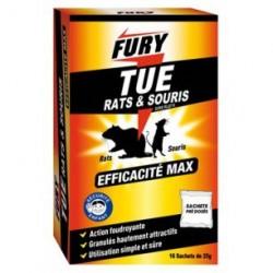 SACHET UNIDOSE RATS ET SOURIS 400G FURY