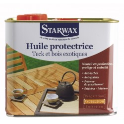 HUILE PROTECTRICE TECK & BOIS EXOTIQUES 2,5 L STARWAX