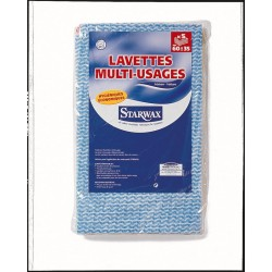 LOT 5 LAVETTES MULTI-USAGES COULEURS ASSORTIES STARWAX