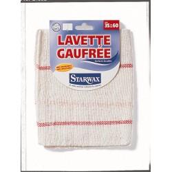 LAVETTE GAUFREE BLANCHE DOUBLE 35X60 STARWAX