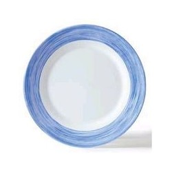 Assiette à dessert 'brush bleu' ARCOROC