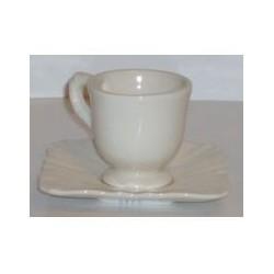 Paire tasse à café 'evora crème'